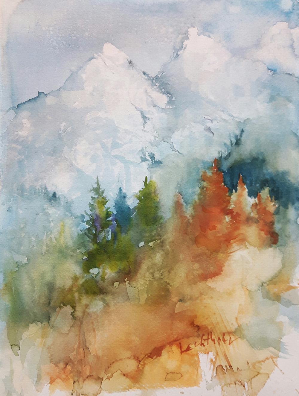 Gebirgswald, mountain, forest
