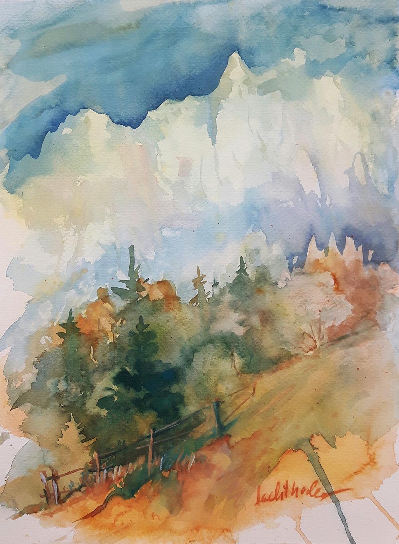 Walter Lechthaler, Aquarell, Blumentraum