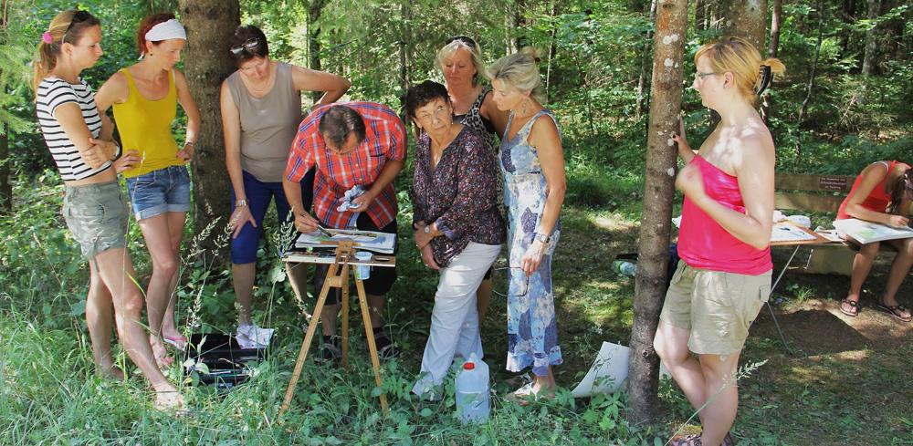 Aquarell-Malkurs, painting workshop mit Walter Lechthaler