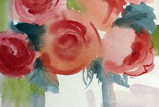 Blumen Malkurs Aquarell Rosen